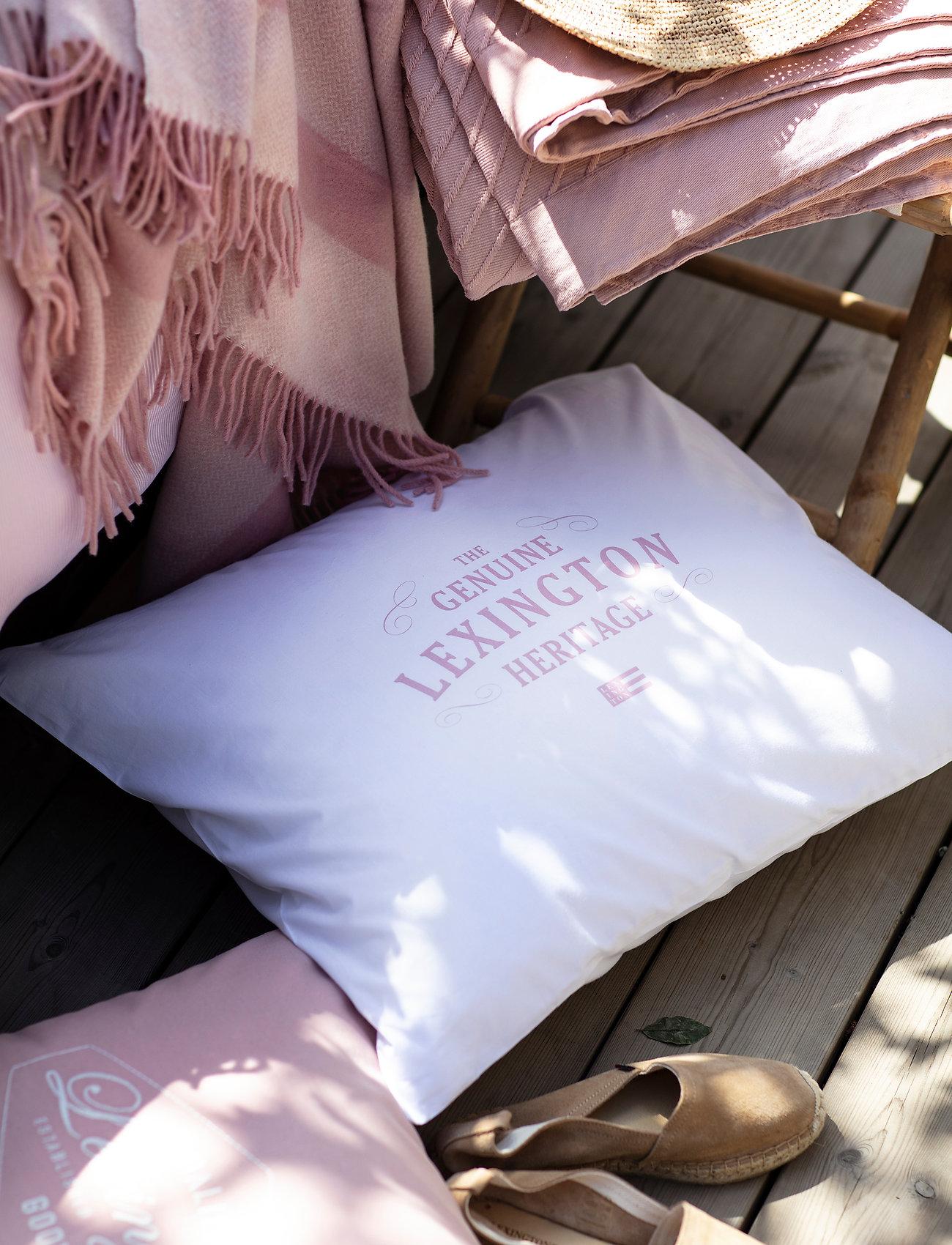 Lexington Home - Lexington Printed Cotton Poplin Pillowcase - pillowcases - white/pink - 1
