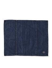 Lexington Home - Icons Cotton Twill Denim Placemat - pöytätabletit & lasinaluset - denim blue - 1