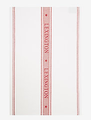 Lexington Home - Icons Cotton Jacquard Star Kitchen Towel - keittiöpyyhkeet - white/red - 0