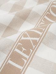 Lexington Home - Icons Checked Cotton Terry Kitchen Towel - keittiöpyyhkeet - beige/white - 1