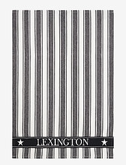 Lexington Home - Icons Cotton Twill Waffle Striped Kitchen Towel - torchons - black/white - 0
