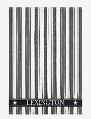 Lexington Home - Icons Cotton Twill Waffle Striped Kitchen Towel - keittiöpyyhkeet - black/white - 0