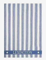 Lexington Home - Icons Cotton Twill Waffle Striped Kitchen Towel - torchons - blue/white - 0