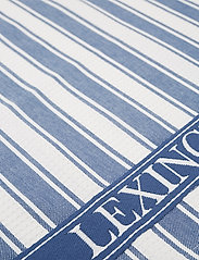 Lexington Home - Icons Cotton Twill Waffle Striped Kitchen Towel - torchons - blue/white - 1