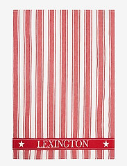 Lexington Home - Icons Cotton Twill Waffle Striped Kitchen Towel - keittiöpyyhkeet - red/white - 0