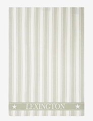 Lexington Home - Icons Cotton Twill Waffle Striped Kitchen Towel - ręczniki kuchenne - sage green/white - 0