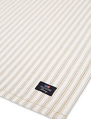 Lexington Home - Icons Cotton Herringbone Striped Napkin - pöytätabletit - beige/white - 1