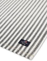 Lexington Home - Icons Cotton Herringbone Striped Napkin - pöytätabletit - black/white - 1