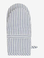 Lexington Home - Icons Cotton Herringbone Striped Mitten - mitaines de four, gants et maniques - blue/white - 1