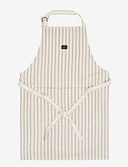 Lexington Home - Icons Cotton Herringbone Striped Apron - esiliinat - beige/white - 0