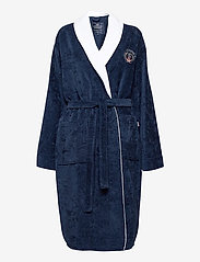 Lexington Home - Lexington Cotton Velour Contrast Robe - kylpytakit - dress blue/white - 0