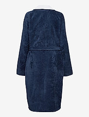 Lexington Home - Lexington Cotton Velour Contrast Robe - kylpytakit - dress blue/white - 1
