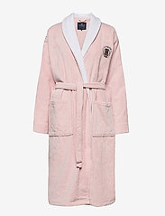 Lexington Home - Lexington Cotton Velour Contrast Robe - bedrok - pink/white - 0