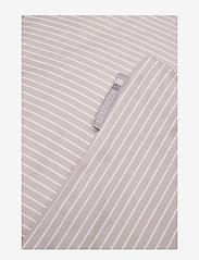 Lexington Home - Hotel Lyocell Stripe Lt Beige/White Duvet - housses de couette - lt beige/white - 1