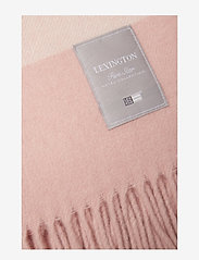 Lexington Home - Hotel Wool Throw - blankets - pink/white - 1