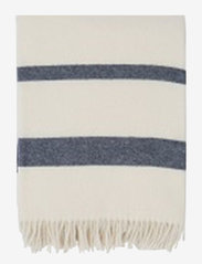 Lexington Home - Hotel Wool Throw - plaids - white/blue - 0