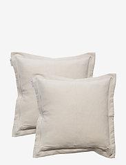 Lexington Home - Hotel Velvet Sham with Embroidery - housses de coussins - beige - 2
