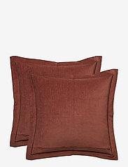 Lexington Home - Hotel Velvet Sham with Embroidery - housses de coussins - chestnut - 4