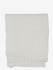 Lexington Home - Knitted Cotton Throw - blankets - beige - 0