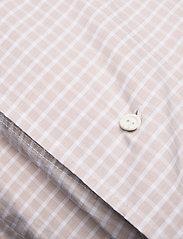 Lexington Home - Beige Checked Tencel Duvet - duvet covers - white/beige - 1