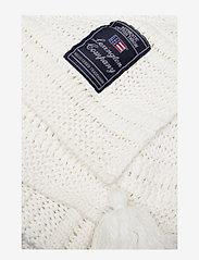 Lexington Home - Knitted Tassel Throw - viltit - white - 1