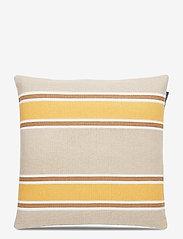 Lexington Home - Striped Cotton Canvas Sham - tyynyliinat - yellow - 0