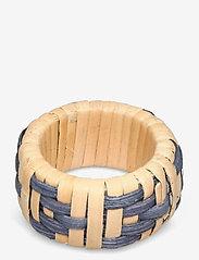 Lexington Home - Wicker Napkin Ring - porte-serviettes & ronds de serviettes - blue - 0