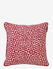 Lexington Home - Coral Printed Cotton Pillow Cover - taie d'oreiller - red - 0