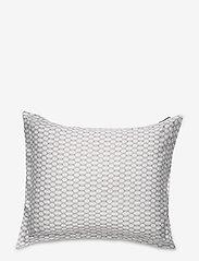 Lexington Home - White/Dk Beige Printed Cotton Sateen Pillowcase - tyynyliinat - white/dk beige - 0