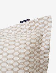 Lexington Home - White/Dk Beige Printed Cotton Sateen Pillowcase - tyynyliinat - white/dk beige - 2