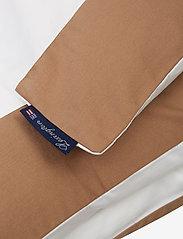 Lexington Home - White/Dk Beige Contrast Cotton Sateen Duvet Cover - duvet covers - white/dk beige - 1