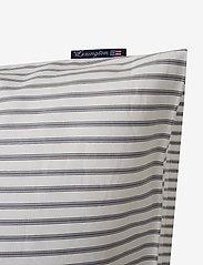 Lexington Home - Striped Tencel/Cotton Pillowcase - pudebetræk - white/steel blue - 2