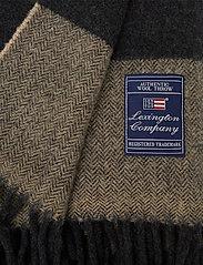Lexington Home - Herringbone Recycled Wool Throw - viltit - brown - 1