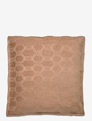 Lexington Home - Jacquard Cotton Velvet Pillow Cover 65x65cm - tyynyliinat - dk. beige - 0