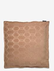 Lexington Home - Jacquard Cotton Velvet Pillow Cover 65x65cm - tyynyliinat - dk. beige - 1