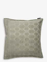 Lexington Home - Jacquard Cotton Velvet Pillow Cover 65x65cm - tyynyliinat - sage green - 1