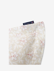 Lexington Home - LtBeige/Pink Flower Print Cotton Sateen Pillowcase - taie d'oreiller - lt beige/pink - 1