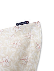 Lexington Home - LtBeige/Pink Flower Print Cotton Sateen Pillowcase - taie d'oreiller - lt beige/pink - 2