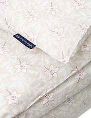 Lexington Home - LtBeige/Pink Flower Print Cotton Sateen Duvet Cove - housses de couette - lt beige/pink - 1
