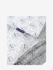 Lexington Home - LtGray/Blue Flower Print Cotton Sateen Duvet Cover - housses de couette - lt. gray/blue - 1