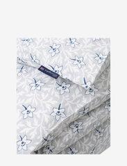Lexington Home - LtGray/Blue Flower Print Cotton Sateen Duvet Cover - duvet covers - lt. gray/blue - 1