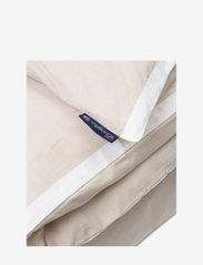 Lexington Home - Beige/White Contrast Cotton Chambray Duvet Cover - housses de couette - beige/white - 1