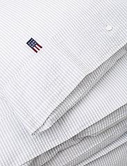 Lexington Home - LtGray/White Striped Cotton Seersucker Duvet Cover - duvet covers - lt gray/white - 2