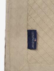Lexington Home - Diagonal Structured Cotton Bedspread - blankets - lt beige - 1