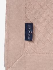 Lexington Home - Diagonal Structured Cotton Bedspread - blankets - pink - 1