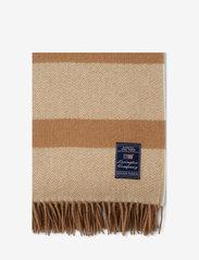 Lexington Home - Herringbone Recycled Wool Throw - plaids - beige - 2