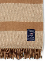 Lexington Home - Herringbone Recycled Wool Throw - blankets - beige - 3