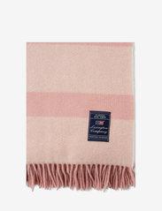Lexington Home - Herringbone Recycled Wool Throw - blankets - pink - 2