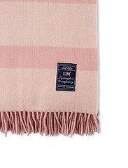 Lexington Home - Herringbone Recycled Wool Throw - blankets - pink - 3