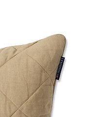 Lexington Home - Quilted Linen/Viscose Pillow Cover - poszewki na poduszki ozdobne - beige - 2